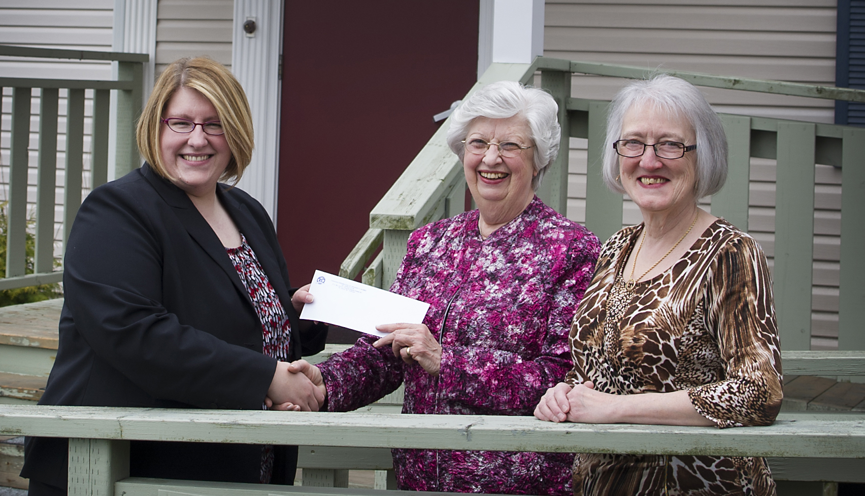 CFUW recently donated $20,000 – the most it has presented to Memorial. From left are Jennifer O'Neill, associate director, Alumni Affairs and Development, who accepted the cheque; Hazel Pritchett Harris, CFUW president; and Sharon Kieley, CFUW treasurer.
